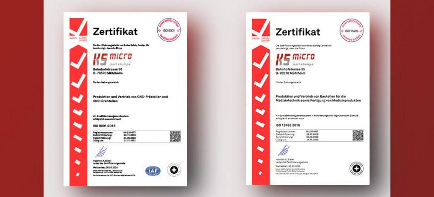ISO Zertifizierung – KS-Micro News